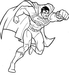 236x264 Color Pages Of Superman Superman, Superman Picture Coloring
