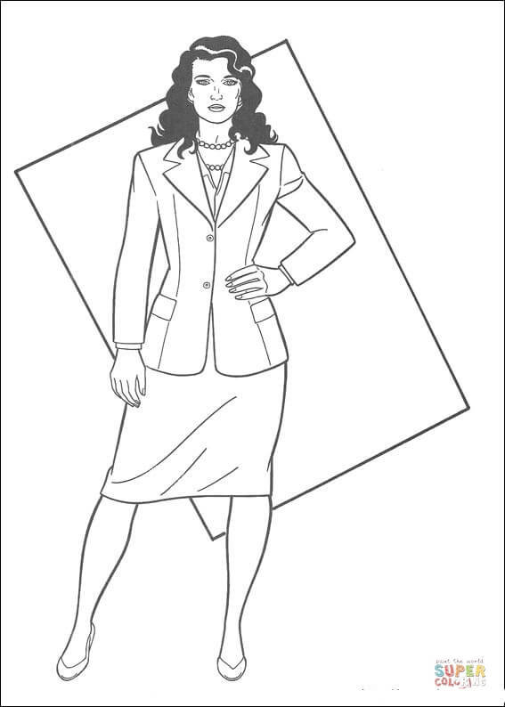 567x794 Lois Lane Coloring Page Free Printable Coloring Pages