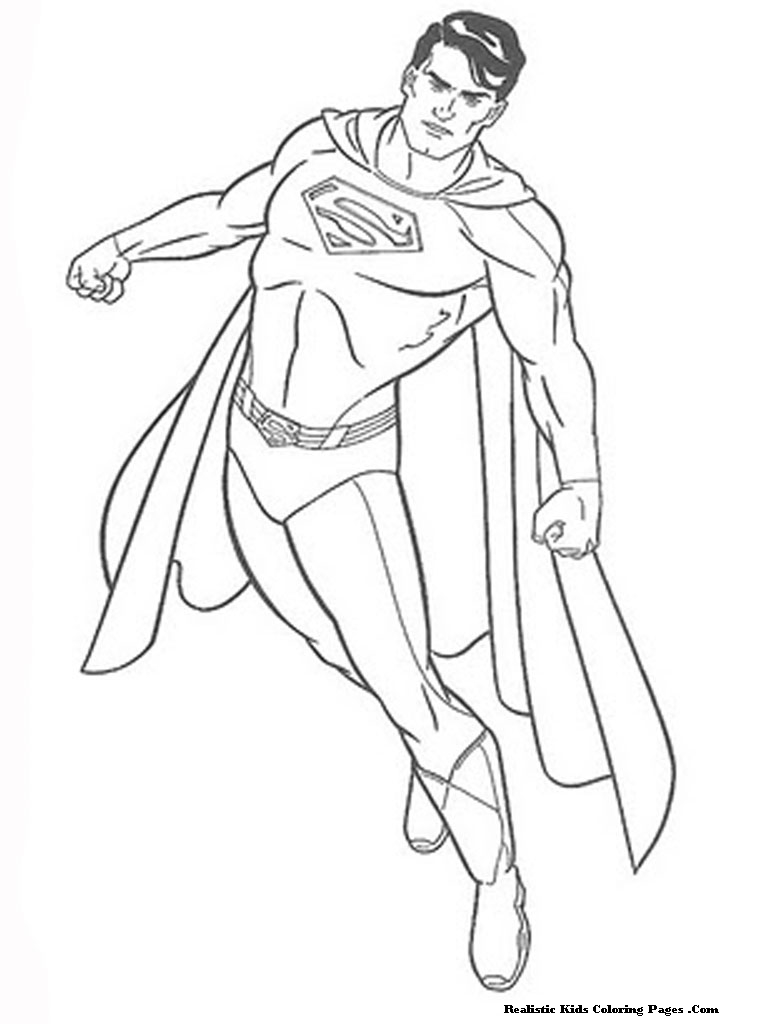 768x1024 Man Of Steel Coloring Pages