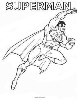 270x350 Superman Fly Away, Superman, Coloring Pages
