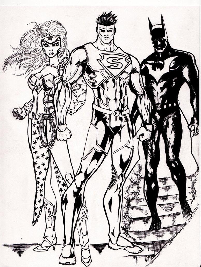 776x1029 Superman Wonder Woman Batman By Grimmcj