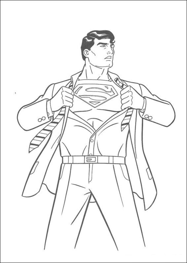 600x840 Superman Coloring Page 17 Superman Cims Diys
