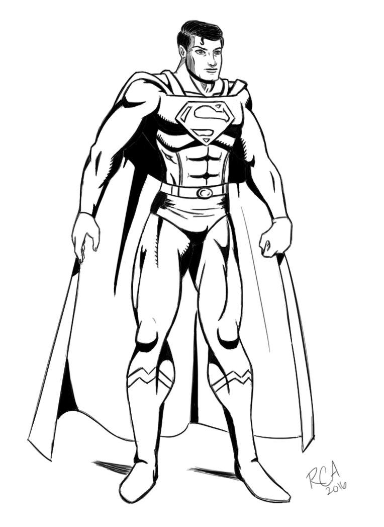 764x1047 Superman Drawing By Robertamaya