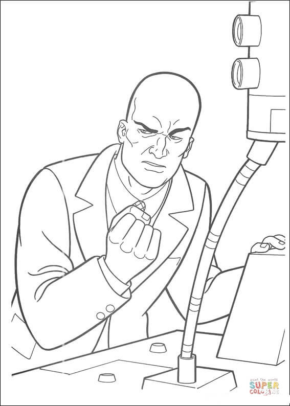 567x794 Supermans Enemy Free Coloring Pages