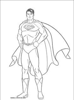 236x320 Color Pages Of Superman Superman, Superman Picture Coloring