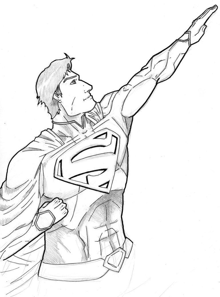 769x1040 New 52 Superman Sketch By Stark Liverbird