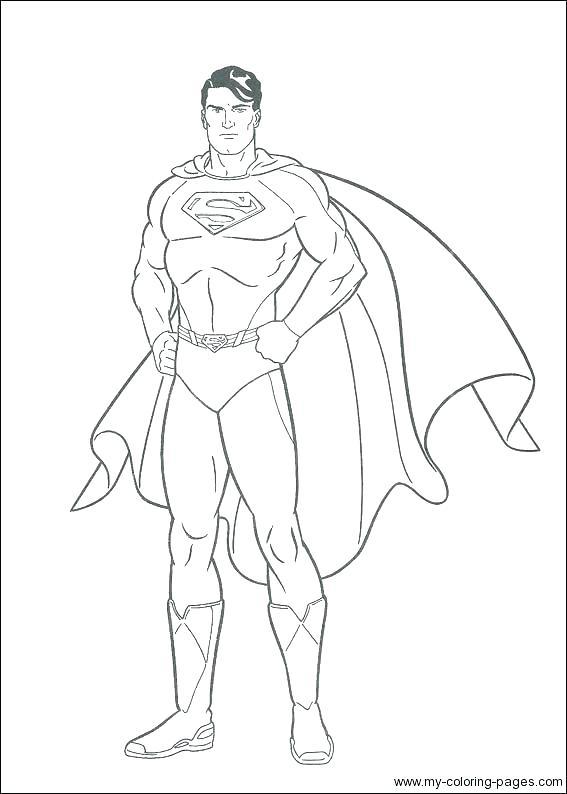 567x794 Superman Coloring Page Superman Coloring Pages Superman Logo
