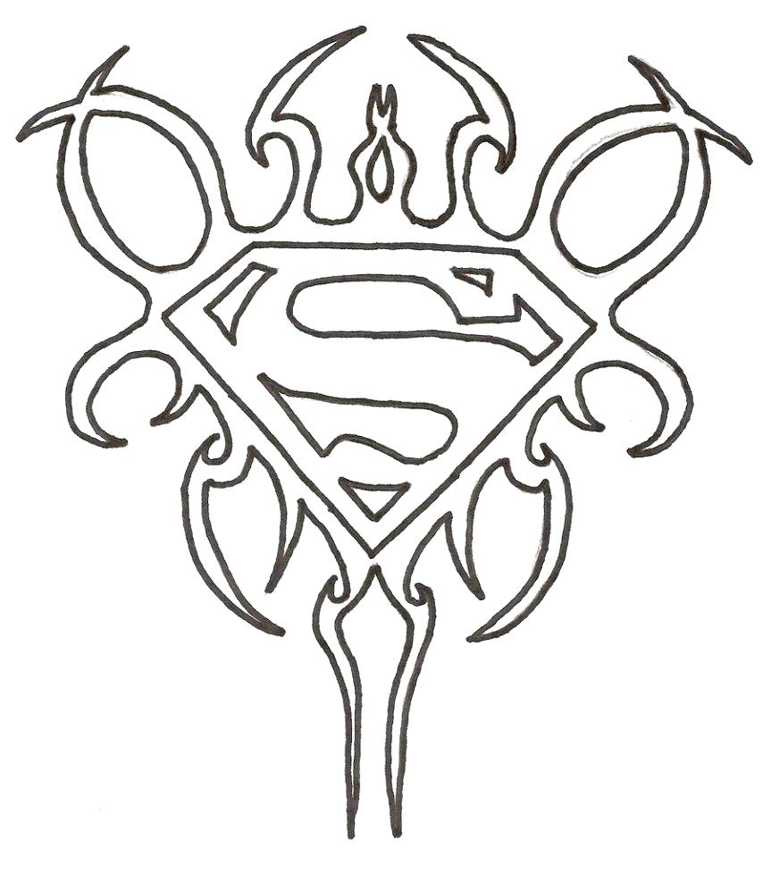 863x976 Coloring Superman Logo Coloring Page Pages Free. Superman Logo