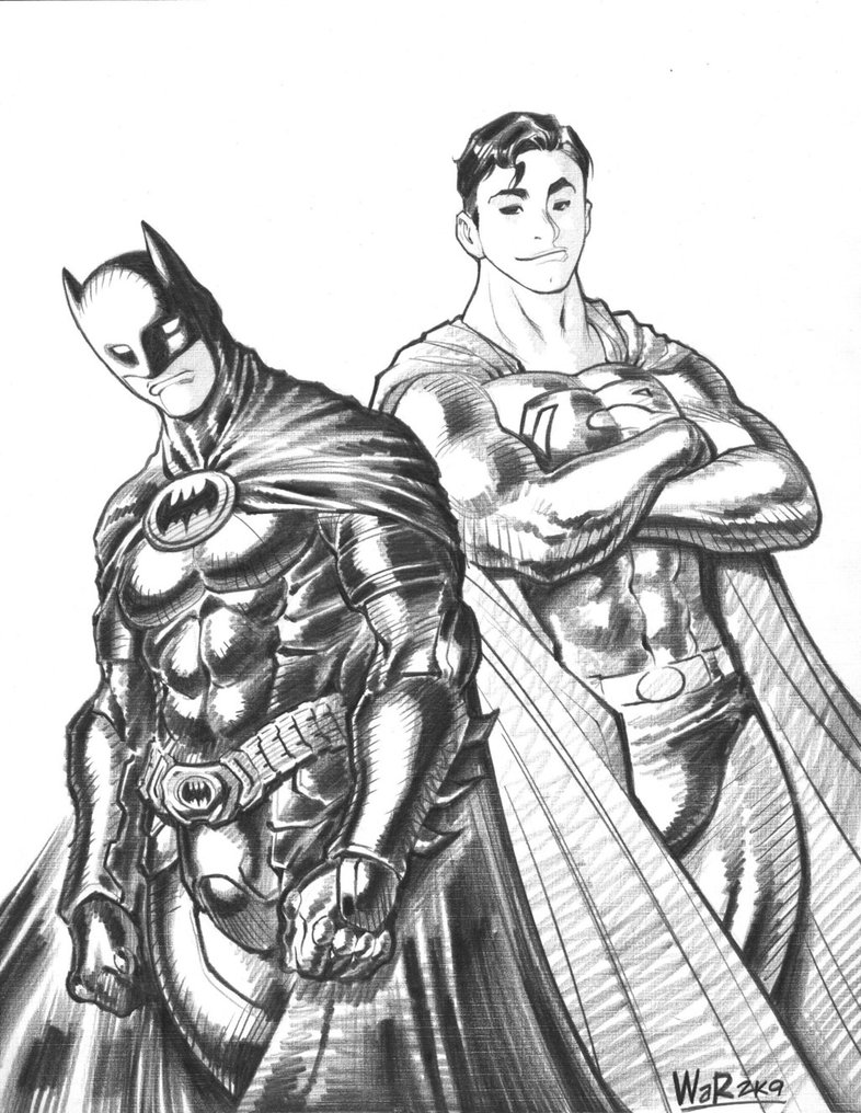 Superman Vs Batman Drawing