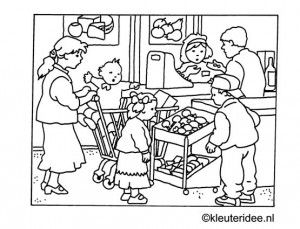 300x229 Supermarket Coloring Pages