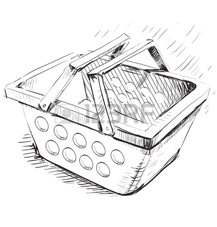 431x450 Supermarket Food Basket Royalty Free Cliparts, Vectors, And Stock
