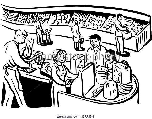 640x500 Family Paying Shopping Supermarket Checkout Stock Photos Amp Family