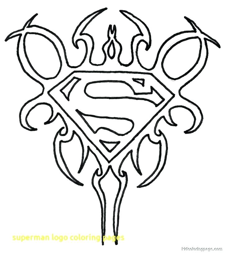 728x823 Logo Coloring Pages Superman Logo Coloring Pages With Superman