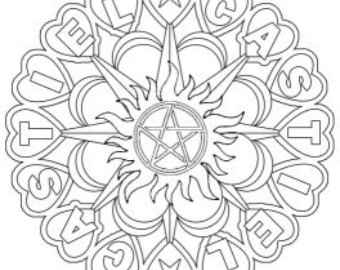 340x270 Supernatural Colouring For Grown Ups Sam And Dean