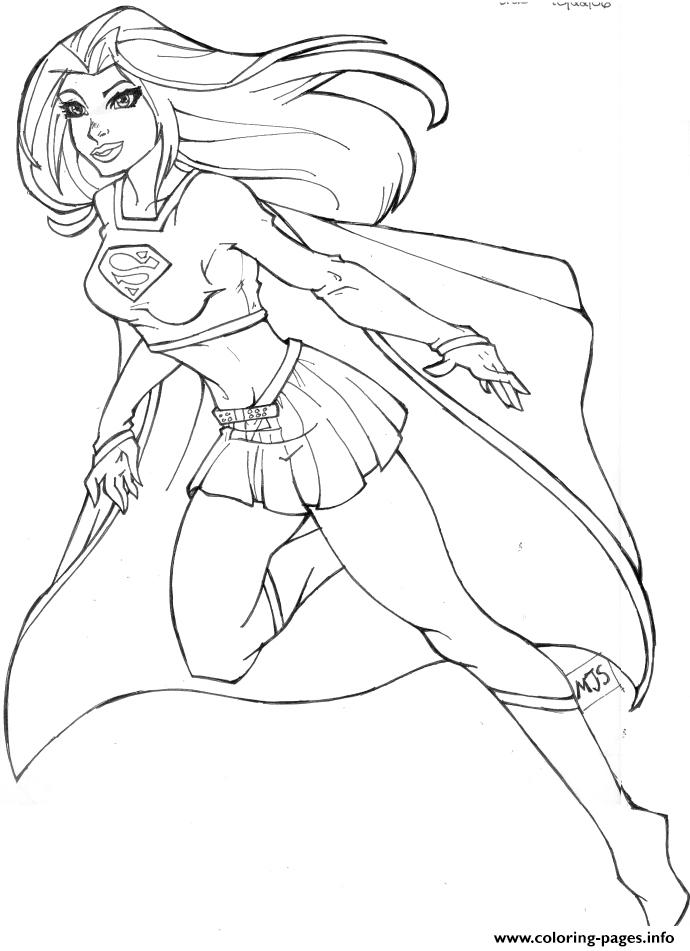 690x951 Luxury Supergirl Coloring Pages 26 For Characters Coloring Pages