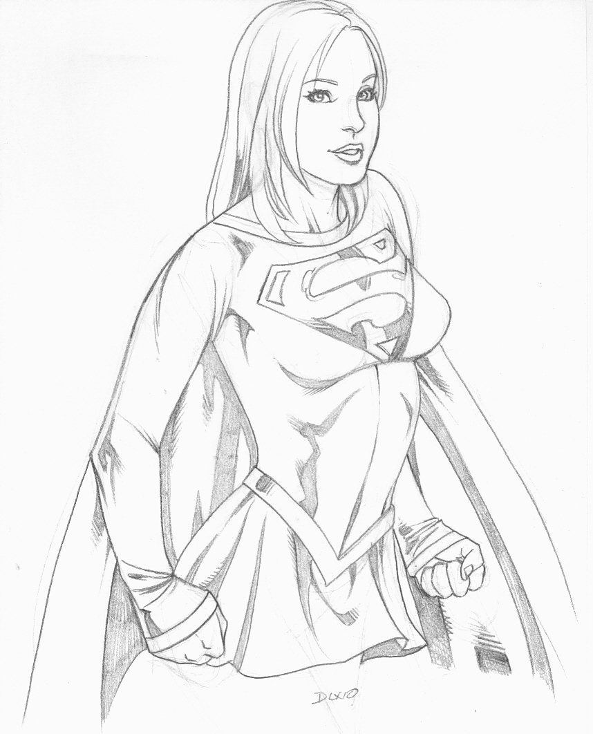 858x1062 My Supergirl Sketch By Geminice