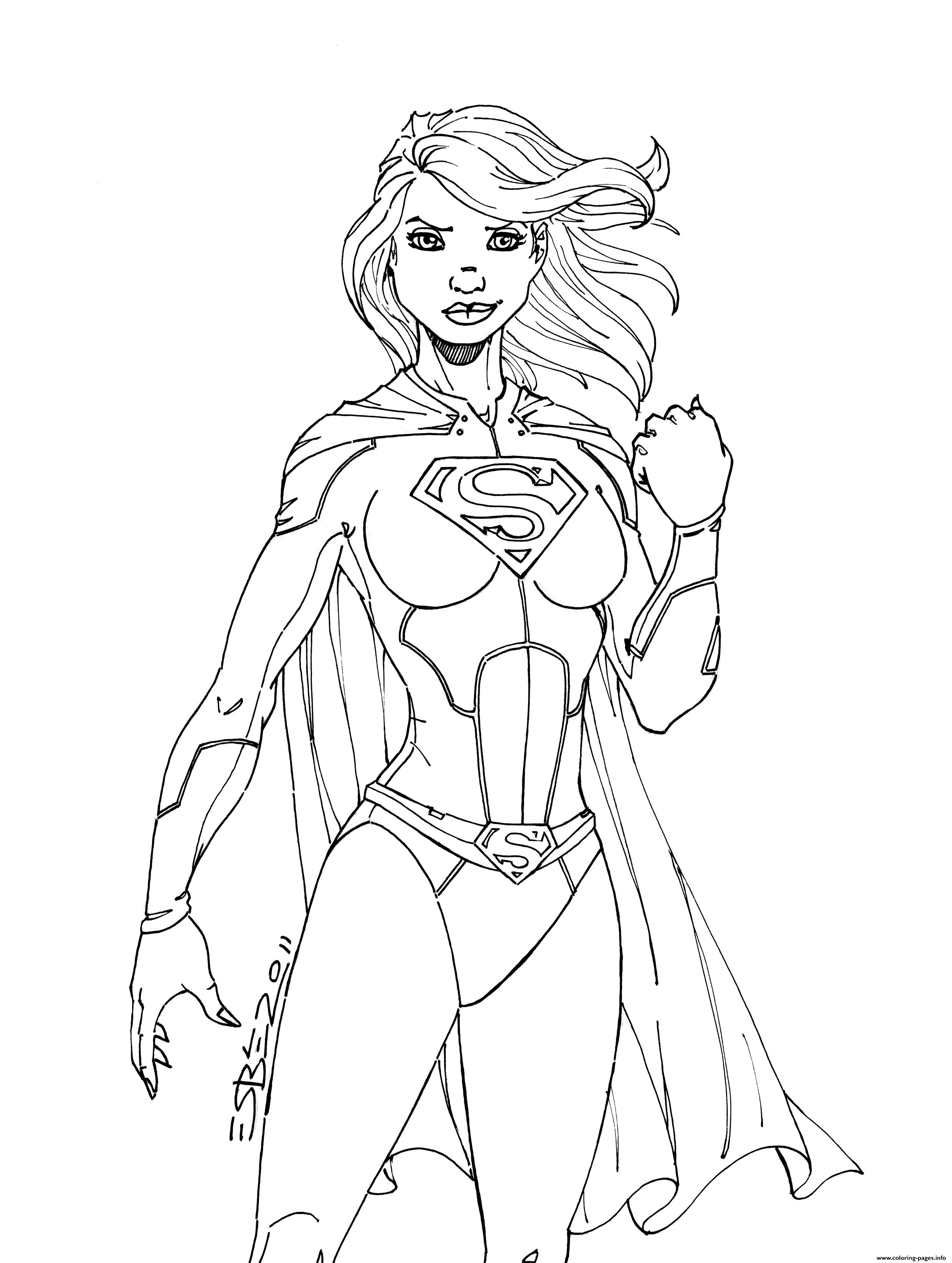 2478x3288 Print Superwoman Power Girl Coloring Pages Coloring Pages