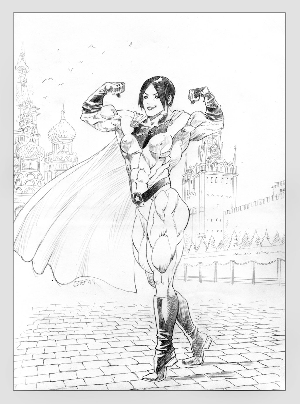 1024x1378 Soviet Superwoman In Red Square By Soviet Superwoman