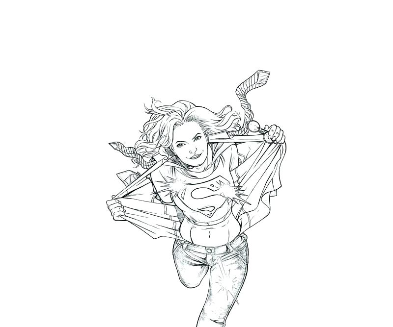 800x667 Superwoman Coloring Pages Pics Of Superhero Drawing Superman