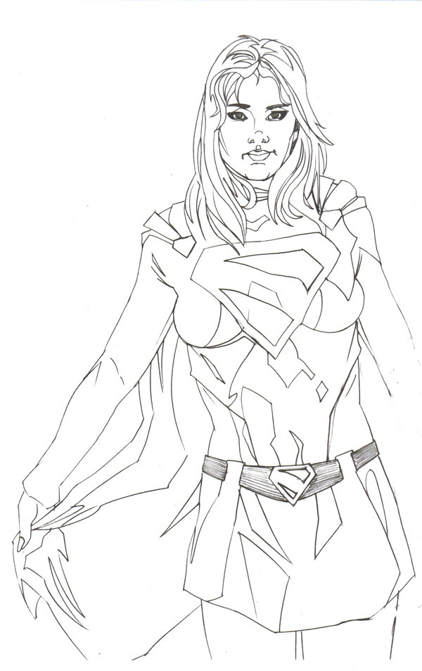 600x953 Superwoman Ii Wip By Norvandell