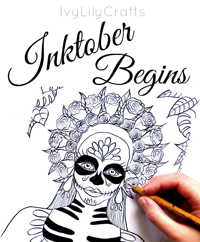 640x774 Inktober 2016 Challenge Begins Inktober Supplies
