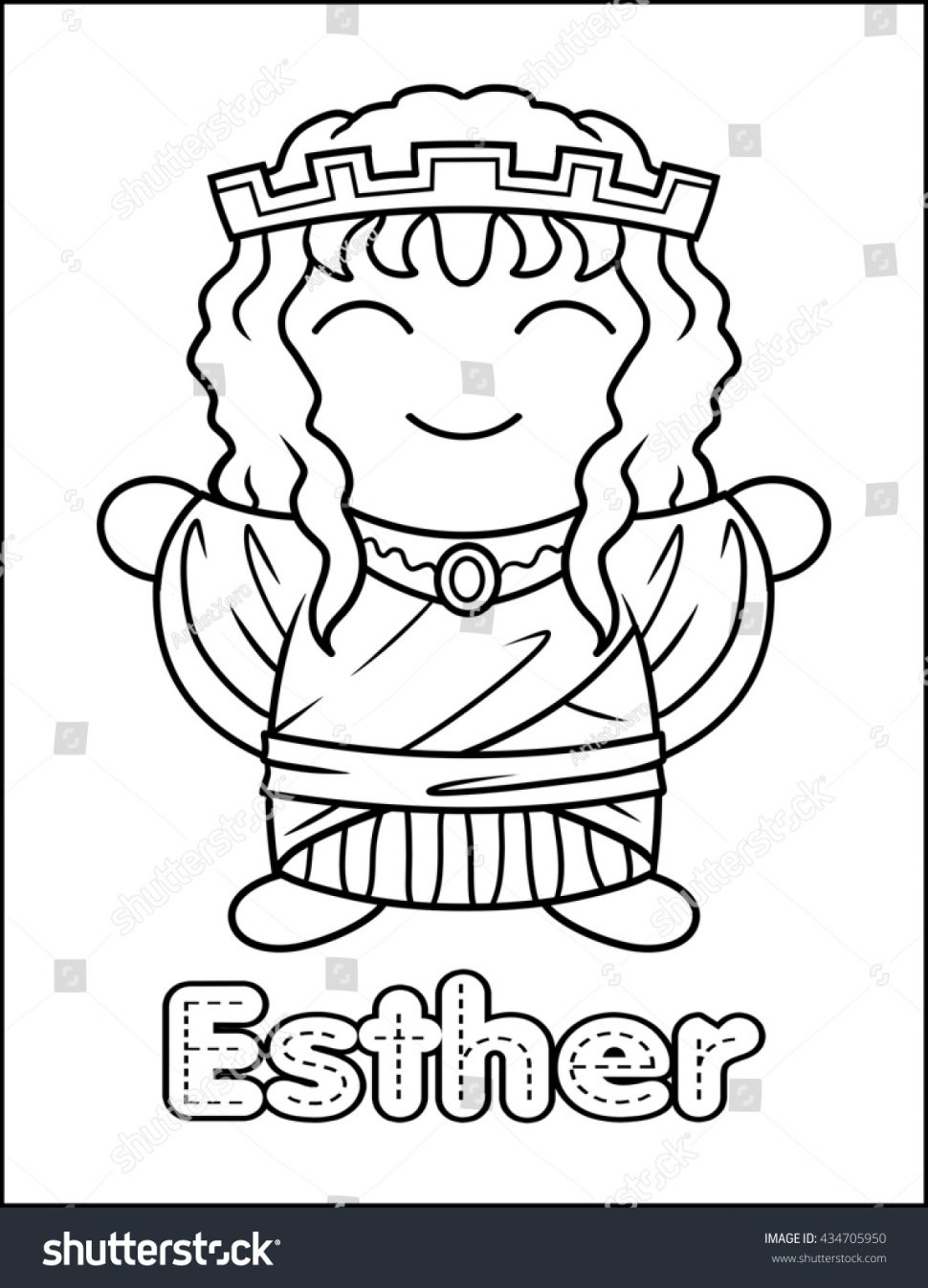 970x1347 Coloring Bible Character Coloring Book Stock Photo Little