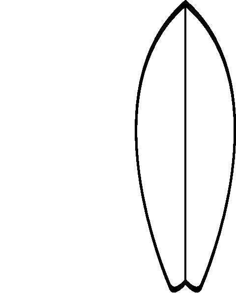 480x597 White Surfboard Clip Art