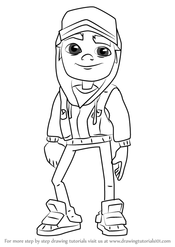 567x800 Learn How To Draw Jake From Subway Surfers (Subway Surfers) Step
