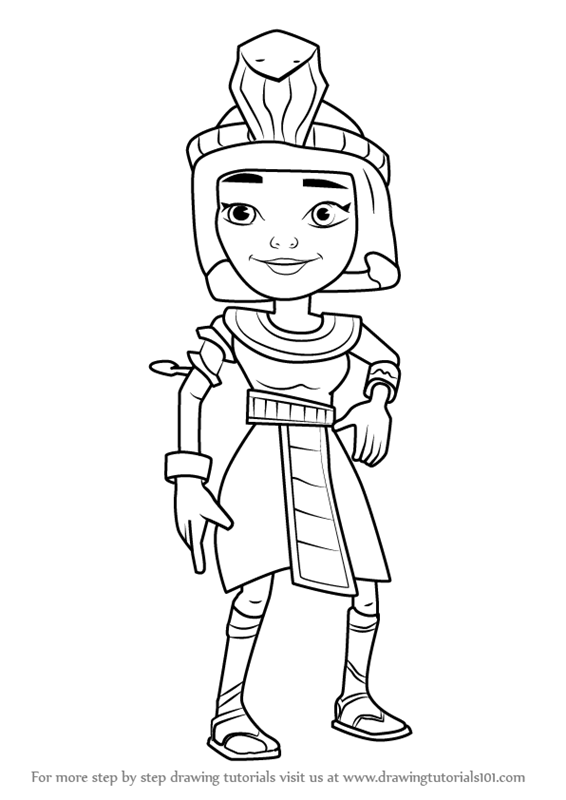 566x800 Learn How To Draw Jasmine From Subway Surfers (Subway Surfers