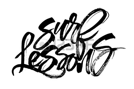 450x300 Surf. Modern Calligraphy Hand Lettering For Silk Screen Print