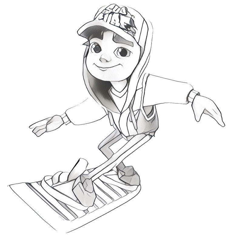 752x775 Coloring Pages Subway Surfers Drawing