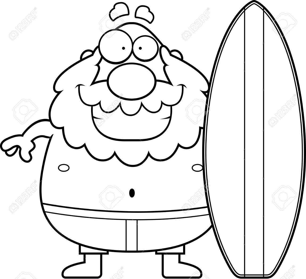 Surfboard Cartoon Drawing