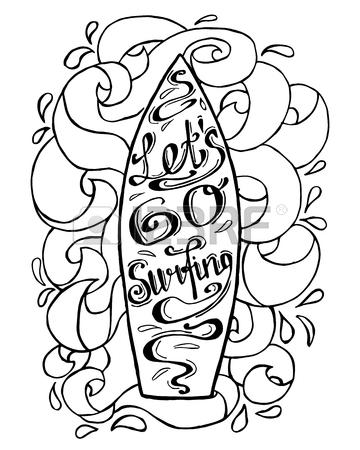 Surfboard Drawing
