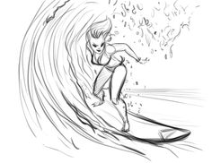 236x182 Surf's Up! By Chris Danger Surf Illustration