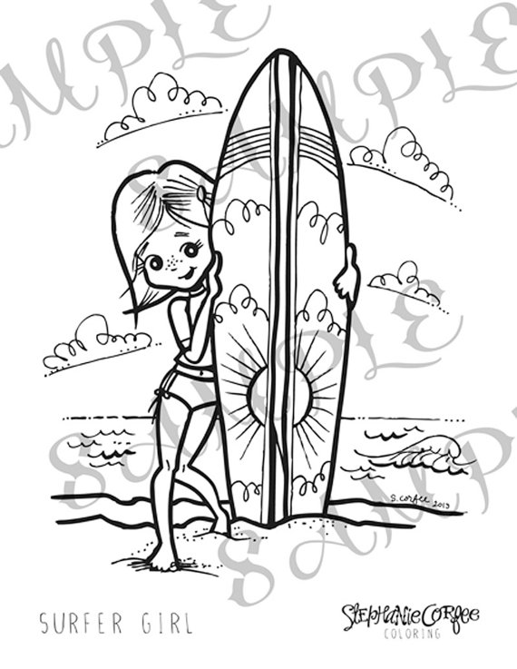 Surfer Girl Drawing At Getdrawings Com Free For Personal Use