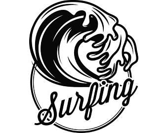 340x270 Surfing Logo 4 Surf Board Surfer Wave Volkswagen Bus Beach