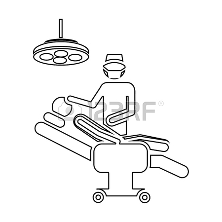 450x450 Color Pencil Drawing Of Pictogram Person With Surgeon Vector