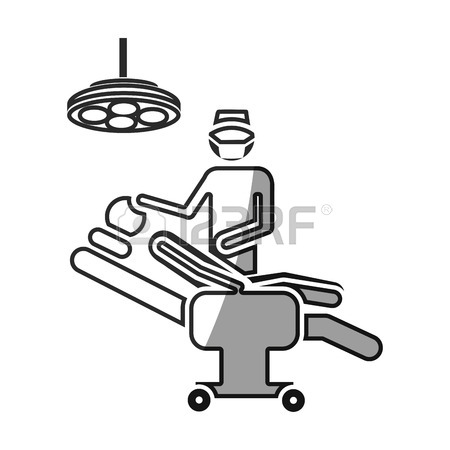 450x450 Grayscale Silhouette With Pictogram Person With Surgeon Vector