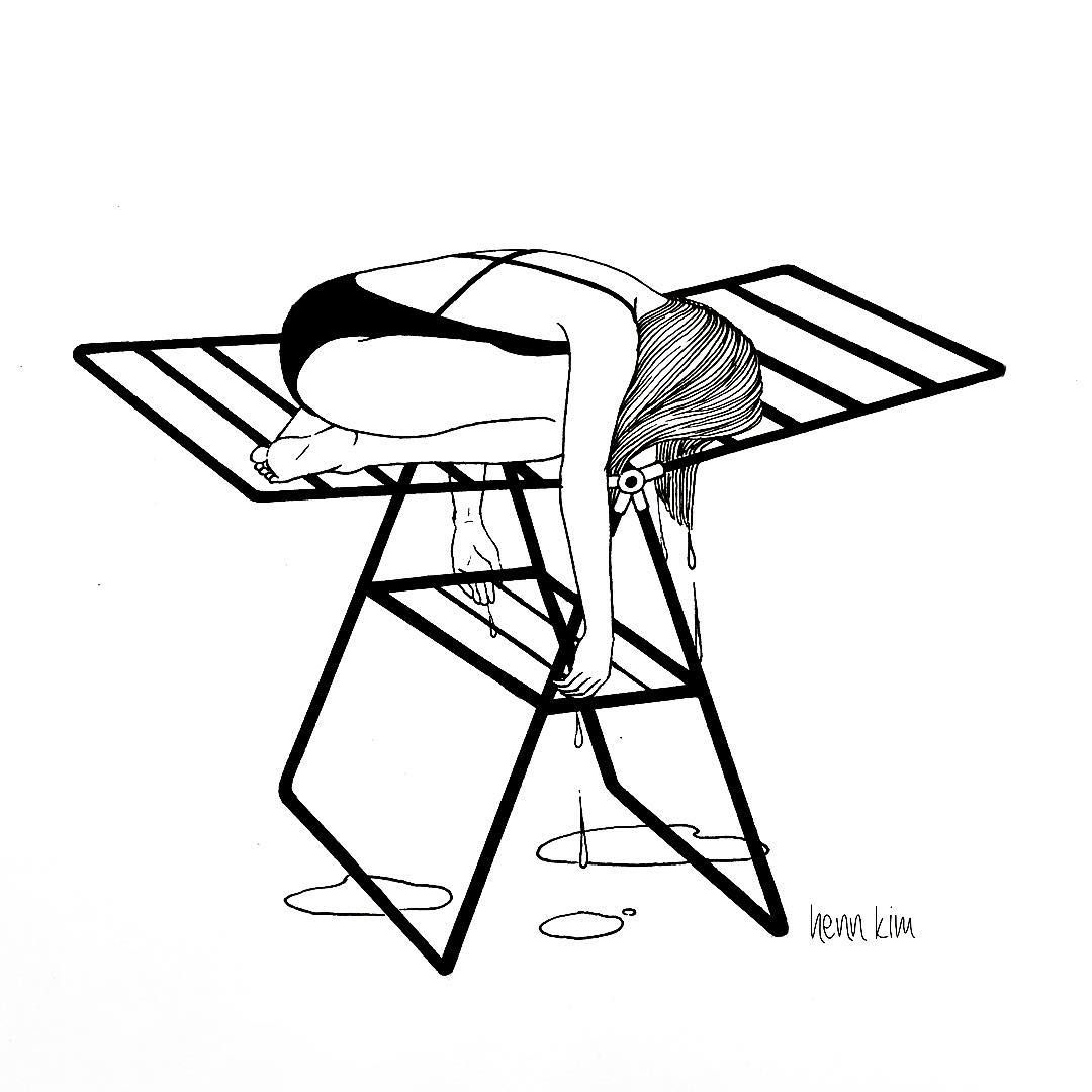 1080x1080 Henn Kim Is An Illustrator Who Draws Only Black And White