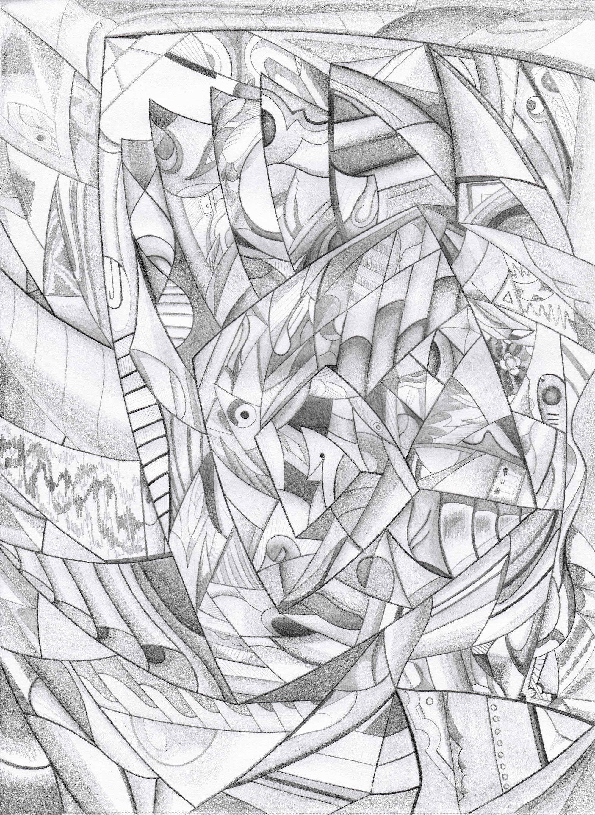 2000x2736 Brecht Corbeel Abstract Surrealism Drawing Art Brecht
