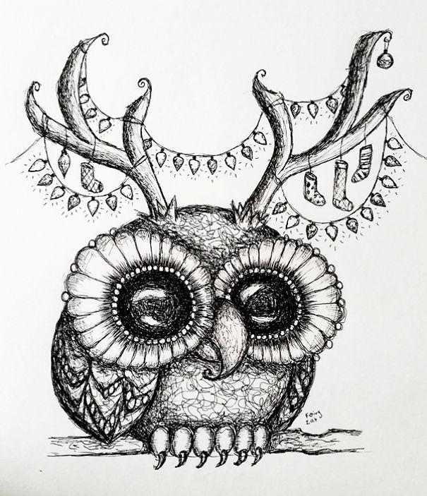 605x703 Creepy Surreal Inks That I Create Junk Host