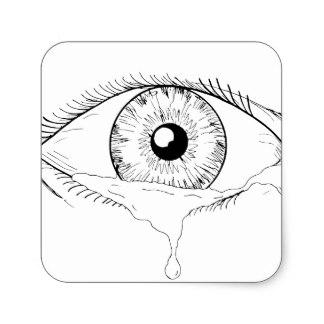 324x324 Eye With Tears Stickers Zazzle