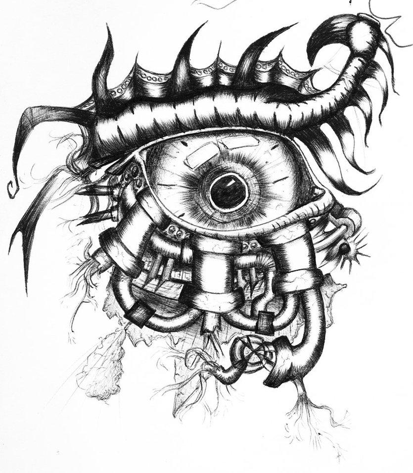 835x956 Mechanical Eye By Cardi777