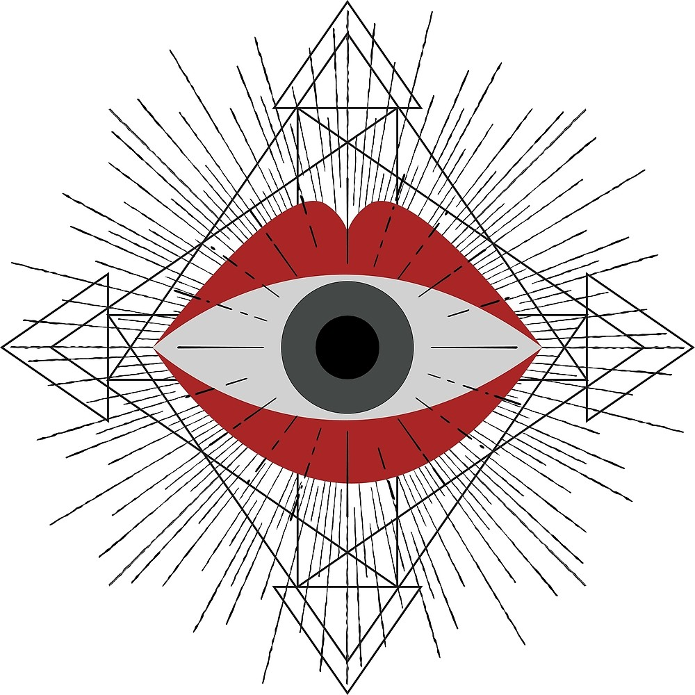 1000x1000 Surreal Eye In The Mouth By Venygret Redbubble