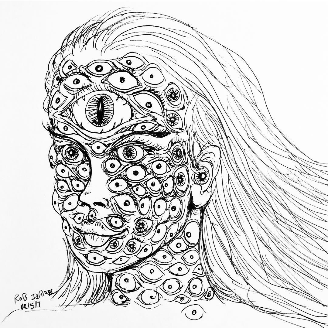 1080x1080 Eyeball Eyes Drawing Doodle On Instagram
