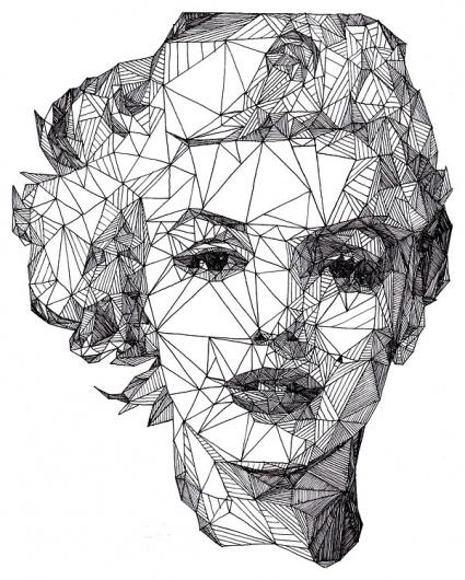 425x530 Geometric Portrait Eye Catchers Collage