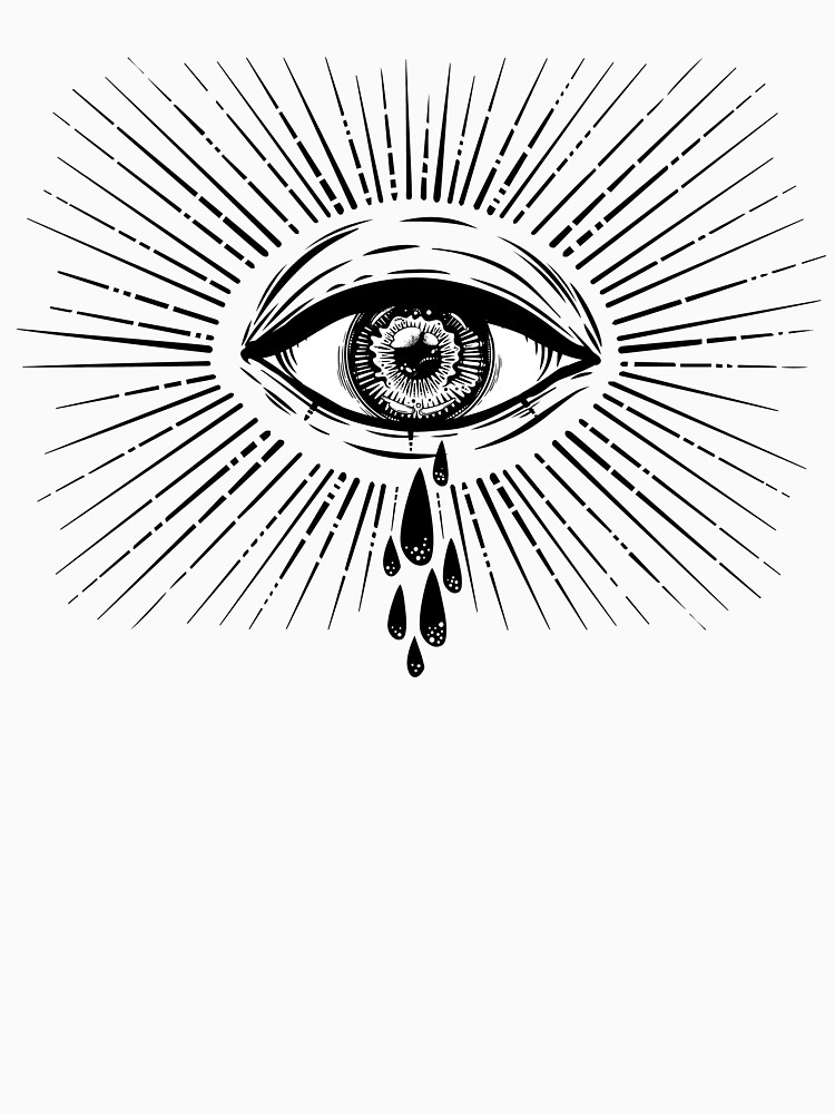 750x1000 All Seeing Eye Crying Watery Tears. Unisex T Shirt By