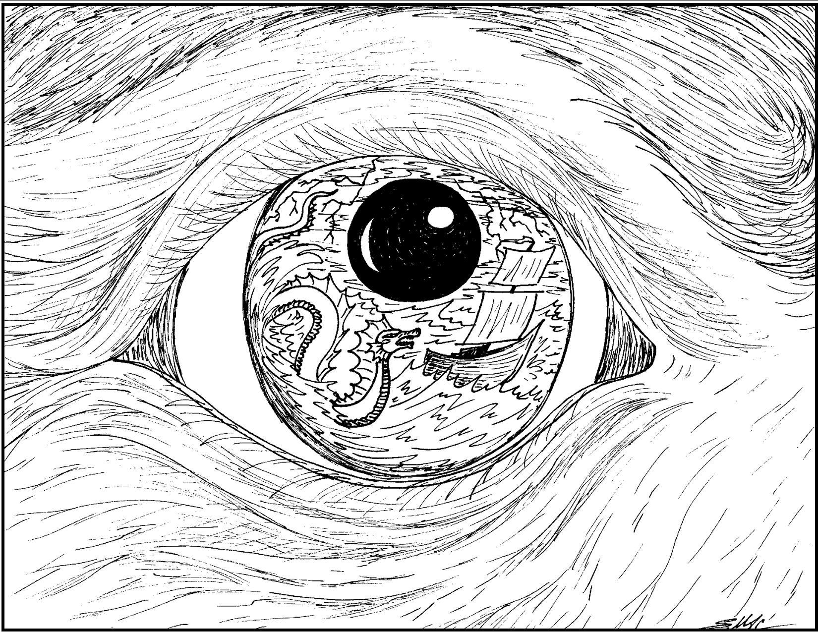 1650x1275 S.mac's Surrealistic Coloring Page, Old Mariner's Eye Fun Shit