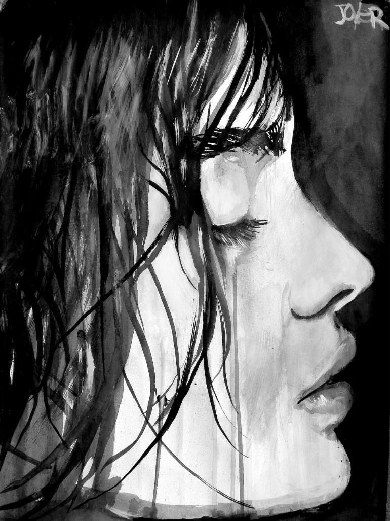 770x1027 Saatchi Art Silence Drawing By Loui Jover