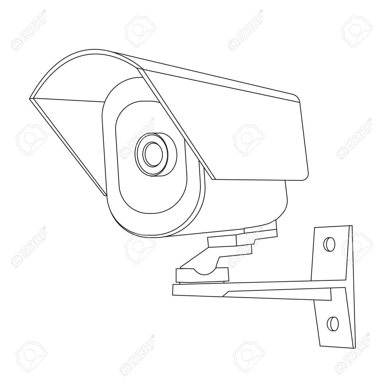 Surveillance Camera Drawing at GetDrawings com   Free for